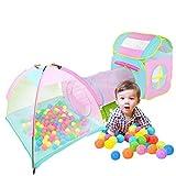 LANHA Tenda da Gioco per Bambini 3 in 1 con buca per Le Palline a Tunnel con Borsa da Trasporto Giocattolo per casetta Pop-up per Bambini Facile da Usare per Interno/Esterno 210 x 102 cm