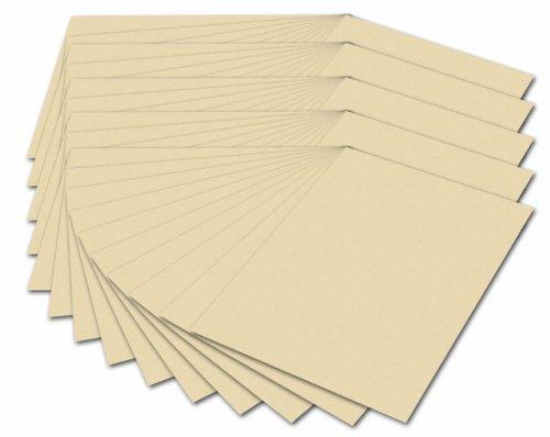 folia 614/50 10 - Fotokarton DIN A4, 300 g/qm, 50 Blatt, chamois - zum Basteln und kreativen Gestalten von Karten, Fensterbildern und für Scrapbooking