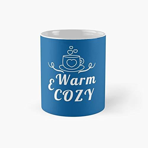 Camiseta clida y acogedora con diseo de gusano de Navidad, ideal como regalo para Navidad, invierno, vacaciones, para mujer, taza clsica de caf, 325 ml