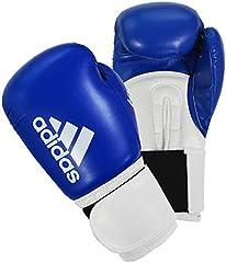 Adidas Guantes de Boxeo Unisex para Hombres y Mujeres y niños, para Entrenamiento de Sparring Hybrid 100 6 oz, 8 oz, 10 oz, 12 oz, 12 oz, 14 oz, 16 oz, Azul, 14 oz