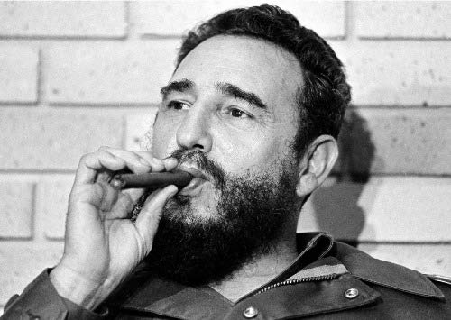 ConversationPrints Fidel Castro Smoking Cigar Glossy Poster Picture Photo Banner Print Cuban