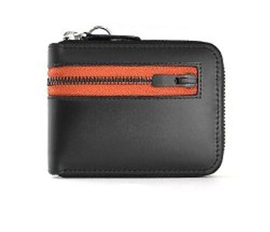 椅子活性化するキリストユナイテッドオム United HOMME ラウンドファスナー財布 ブラック カラージップテープ UH-1594
