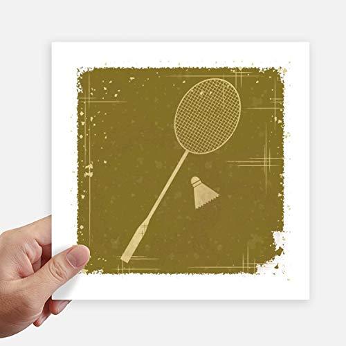 DIYthinker Sport Badminton Illustration Muster-Quadrat-Aufkleber 20Cm Wand Koffer Laptop Motobike Aufkleber 4Pcs 20cm x 20cm Mehrfarbig