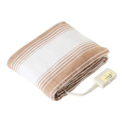 LIFEJOY 電気毛布 掛け 敷き 兼用 洗える 省エネ シングル 188cm×130cm ブラウン リバーシブル BK552