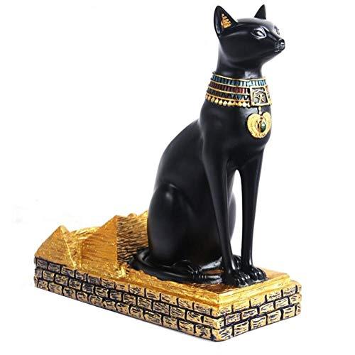 Botella de vino bastidor Estante del vino - vino de resina egipcia gato rack mejor botella de vino en rack egipcia Animal diosa del vino en rack for el Hogar decoración de la barra Exquisita decoració