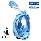 V VILISUN Tauchmaske Vollmaske für Kinder Schnorchelmaske Vollgesichtsmaske mit 180° Sichtfeld und Kamerahalter