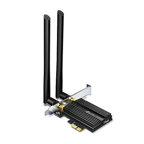 TP-Link Archer TX50E - Tarjeta de Red PCLe AX3000, Wi-Fi 6 con Bluetooth 5.0 (Dos Antenas multidireccionales, Intel Wi-Fi 6, disipador de Calor, estándar de cifrado WPA3, Ahorro de Espacio)