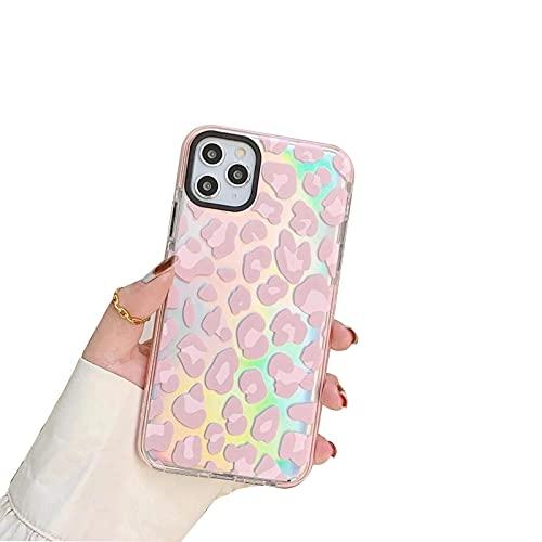 XWCG Funda para iPhone 12 12 Pro 12 Pro MAX Funda Silicona Delgada TPU Carcasa Diseño de Leopardo Antigolpes Bumper Protección Case Back Cover,Rosado,11