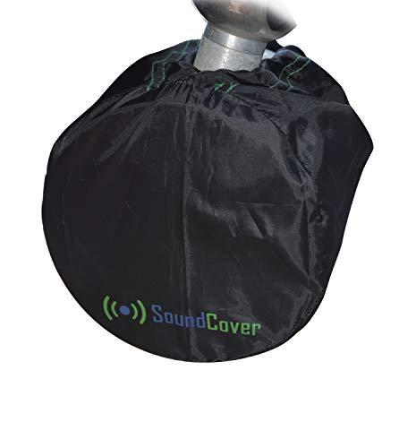 "2 Medium Boat Speaker Covers for 6.5"" Round and 6X9 Inch Oval Marine ATV Wakeboard Tower Pod Speakers – Speaker Bags fit Boss Audio, MCM Custom Audio, Rockville Marine Speakers - Sold in Pairs"
