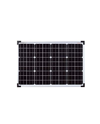 enjoysolar® Monokristallin 36V Solarmodul Solarpanel ideal für 24V Garten Wohnmobil Caravan PV Anlage (50W)