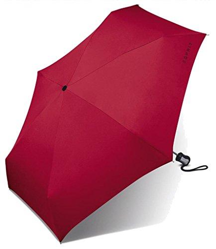 Esprit Mini Regenschirm Taschenschirm Easymatic 4-Section Light Auf-Zu Automatik flagred