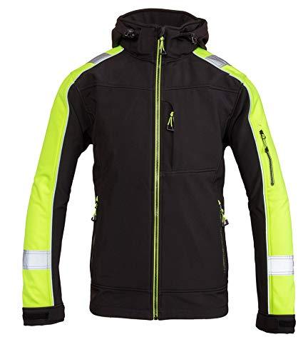 Polstar Benevit Rival Softshell Jacke Warnschutz Warnjacke Reflektierend Schutzjacke Arbeitsjacke (XL)