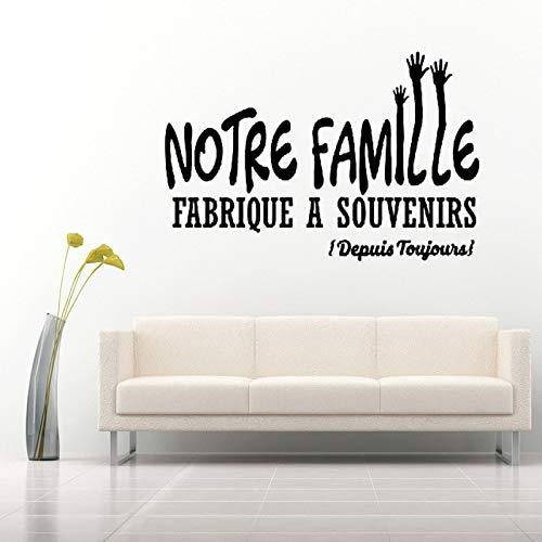 yiyiyaya Aufkleber Französisch Votre Famille Souvenir Vinyl Wandaufkleber Aufkleber Wandbild Wandkunst Tapete für Wohnzimmer Wohnkultur Deco 40X60 cm