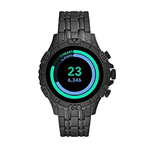 Fossil Gen 5 Garrett HR Heart Rate Stainless Steel Touchscreen Smartwatch, Color: Black (Model: FTW4038)