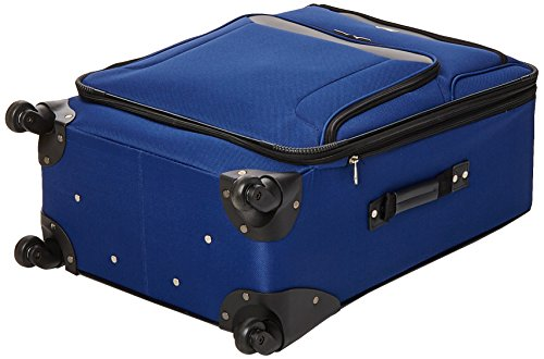 American Tourister Brookfield Expandale Softside Luggage with Spinner Wheels, Navy/Black, 3-Piece Set (BB/21/25)
