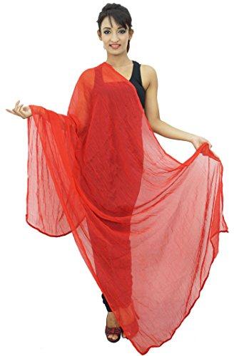 Indianbeautifulart Chiffon Mischung Dupatta lange Stola Frauen-Ansatz-Verpackung Indischen Schal Chunni