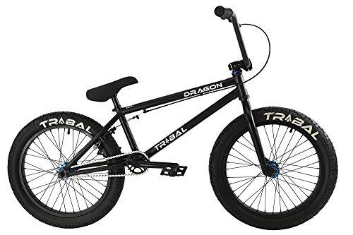 Tribal Dragon Bicicleta BMX – Piezas negro mate/azul
