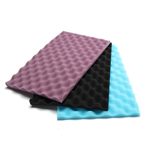 EsportsMJJ 3 Stks 17x11 Inch Aquarium Media Fish Tank Filter Foam Sponge Pads 20 mm Dikte