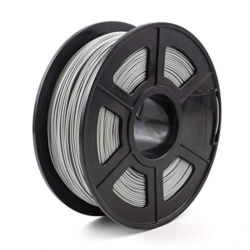 NO LOGO HWW-3D, Filamento Stampante 3D 1.75mm 1kg / 2.2lbs PLA PETG TPU Nylon Fibra di Carbonio conduttivo ABS PC Pom ASA Legno Hips PVA filamento di plastica (Color : PLA Grey)