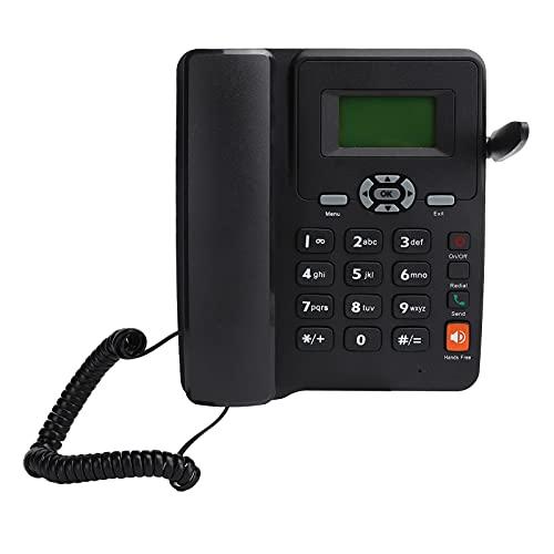 Annadue Teléfono de sobremesa, Tarjeta Dual, teléfono con Cable de Doble Modo de Espera, con Antena Externa, Tono de Llamada, rellamada, Llamada Manos Libres, UE 100‑240 V