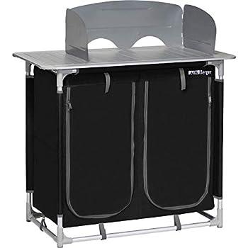 Berger Meuble de Camping Meuble de Cuisine Meuble de Rangement Pliable 4 étagères