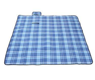 Elikliv Manta de pícnic, alfombra para camping, jardín, impermeable, plegable, portátil, con asa, multiusos, 200 x 200 cm