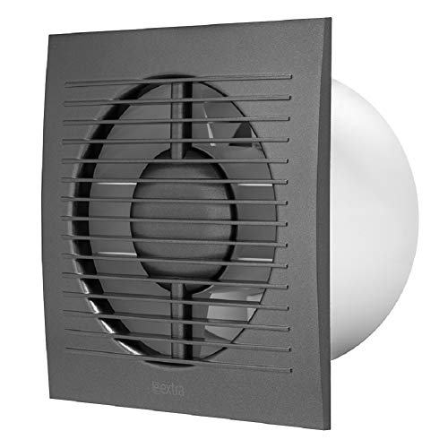 Ventilador de pared para baño, diámetro de 125 mm, color antracita