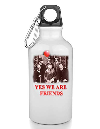 KRISSY Yes We Are Friends Pennywise Freie Trinkflasche Wasserflasche Sport Camping Tourist Water Bottle