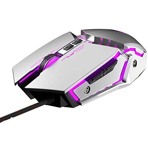 Gaming Mouse USB Computer Mouse Gamer Silent Mause with Backlight RGB Ergonomic Game Mouse LED 4800 DPI Mice for PC Laptop LOL