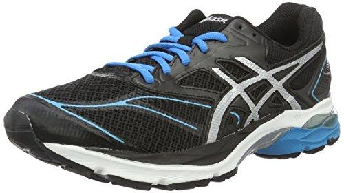Asics Gel-pulse 8, zapatillas de Entrenamiento y correr, hombre, Negro (Black/Silver/Blue Jewel), 45 EU