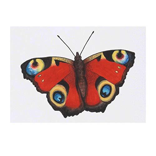 Azeeda Grand 'Paon Papillon' Tatouages temporaires (TO00028737)