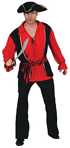 Bristol Novelty Ac315 Capitaine Pirate Costume (Medium)