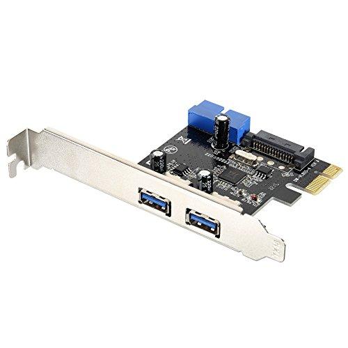 Rokoo Superspeed 2 Ports USB 3.0 Erweiterungskarte PCI-E 15 Pins SATA 5Gbps Stromanschluss