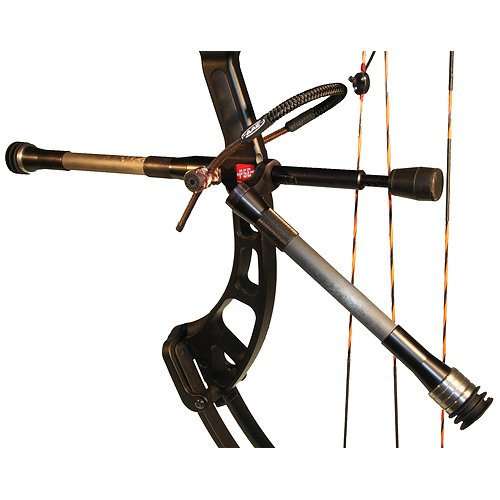 AAE Hot Rodz Western Hunter Stabilizer, Twin 8 and 10-Inch RH, Black