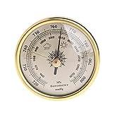 ZHOUCHENPQ Outils Baromètre à Suspension Murale de 72mm 1070HPA Couleur d'or Round Round Air Station météo (Pressure Range : 1hPa)