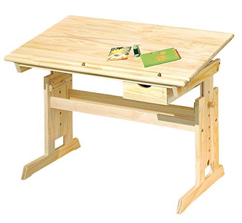 Inter Link Schülerschreibtisch Schreibtisch Arbeitstisch Kinderschreibtisch Massivholz Natur lackiert