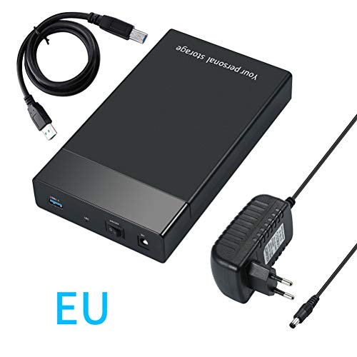 "Bsopem Hard Drive Box 3.5, USB 3.0 a SATA External Hard Drive Docking Station, Portable External SATA Disk Caddy Reader, per 3,5"" SATA I/II/III HDD SSD fino a 12 TB Supporto UASP (EU)"