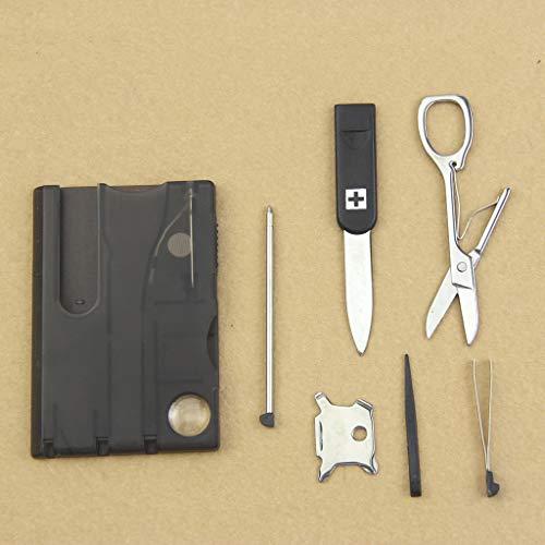 jiheousty Handy Multifonctionnel Survie Camping Carte Outil Couteau LED Light Magnifier Nouveau