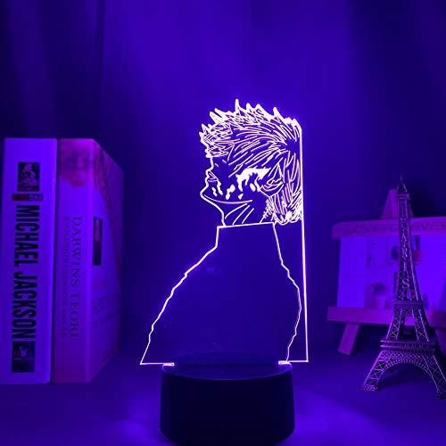 Luz nocturna LED 3D ilusión para niños Anime Tokyo Ghoul 3D Lamp Ken Kaneki Night Light para niños, decoración manga Cool Birthday Gift Toy Tokyo Ghoul LED lámpara de mesa 7 colores táctil LUOXIA