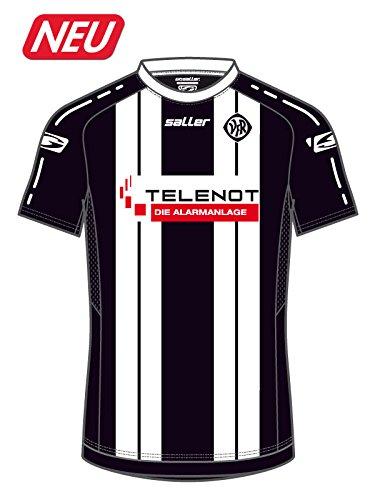 Saller Aalen Heim Trikot 2017/2018 AA4528 schwarz-weiß Gr. M