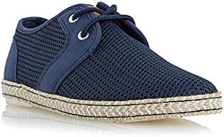 Dune London Men's Fenntons Espadrille Shoes, 44 EU, Navy