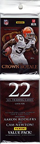 2012 Panini Crown Royale NFL Football HUGE Factory Sealed JUMBO RACK Pack with 22 Cards! Look for Autographs of Russell Wilson, Andrew Luck, Robert Griffen III, Aaron Rodgers, Cam Newton & Many More!