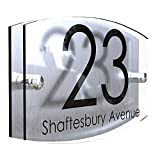 K Smart Sign | Front Door House Number Sign | Acrylic & Aluminium | 200mm x 130mm