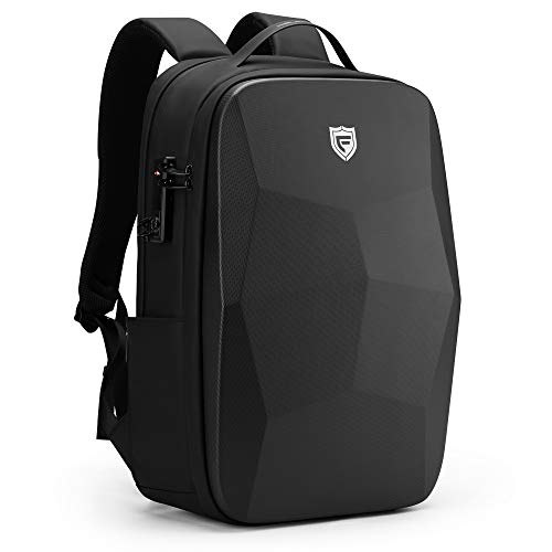 FENRUIEN 25L 17.3 Inch Laptop Backpack, Waterproof Business Notebook Backpack with USB Charging Port, Anti Theft Daypack with Laptop Compartment for School/Travel/Work, Black