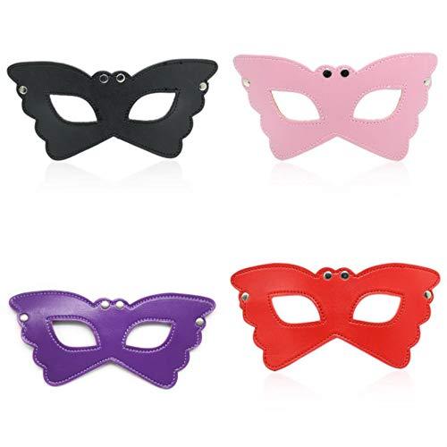 Leer Maskers Sex Toys Alternative Rivet Blindfold 4 stuks,4 pcs