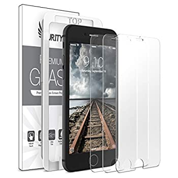 Purity Glass Screen Protector for iPhone 8 / iPhone 7 / SE 2020  3-Pack  [w/Installation Frame] Tempered Glass Screen Protector Compatible with Apple iPhone SE 2nd Gen 8 7  4.7-in  [Case Friendly]