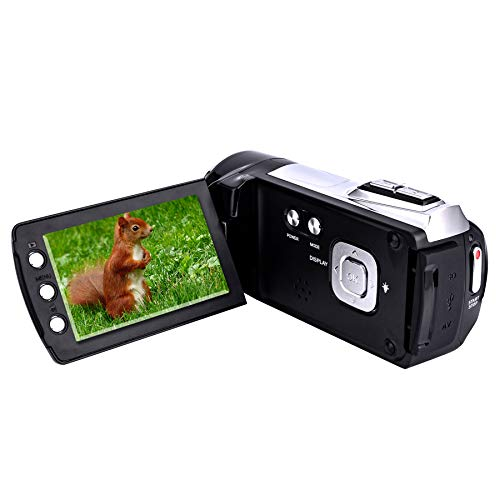 Video Camera Camcorder 2.7 Inch 270 Degree Rotation LCD 1080P Digital Video Camera 8X Digital Zoom Vlogging Camera Mini Camcorder for Kids Teenagers Beginners Gifts