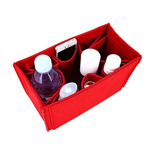 Winter & Co. Taschenorganizer Stoff Handtaschenordner Taschen Organisator | In 5 Farben 3 Größen M L XL | Leicht, Weich Und Biegsam | Bringt Ordnung Und Übersicht In Deine Tasche (Rot, Large)