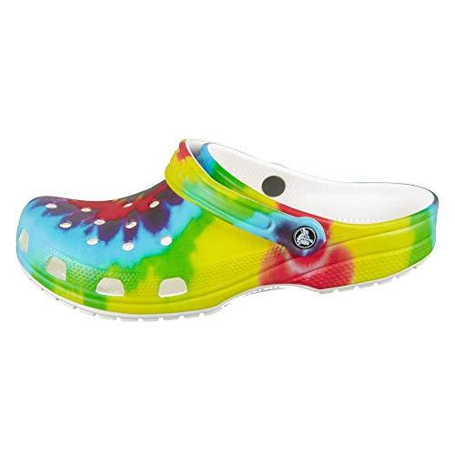 Crocs Classic Tie Dye Clog | Comfortable Slip on Casual Water Shoe, Multi, 8 Women/6 Men