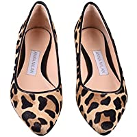 ANNA MILAN Bailarinas De Piel De Potro En Animal Print de Leopardo/Cebra (39 EU, Leopardo-Negro)